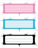 Splattering wektorowych sztandary w trzy kolorach Zdjęcie Royalty Free