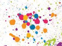 splatters χρωμάτων ελεύθερη απεικόνιση δικαιώματος