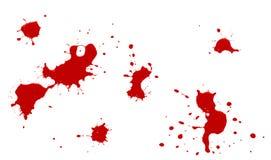 splatters красного цвета Стоковые Изображения