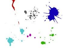 splatters чернил Стоковые Фотографии RF