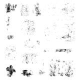 Splatters чернил Собрание элементов дизайна Grunge Стоковое Изображение