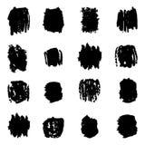 Splatters чернил Собрание элементов дизайна Grunge Стоковое Фото