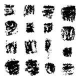 Splatters чернил Собрание элементов дизайна Grunge Стоковые Изображения RF