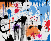 Splatters. Ink splats, paint splatters, backgrounds or blood stains etc Stock Photo