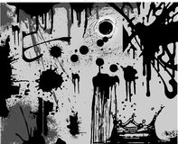 Splatters Black&White Immagine Stock Libera da Diritti
