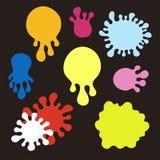 Splatters coloridos Imagens de Stock