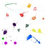 Splatters da tinta Fotografia de Stock Royalty Free