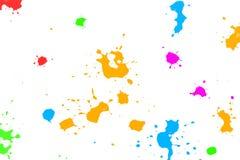 Splatters da tinta da cor Fotografia de Stock