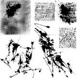 Splatters ed altri elementi del grunge Fotografie Stock Libere da Diritti