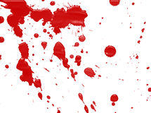 Splatters of red blood Royalty Free Stock Images