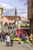 Splavnica, famous flower market in Zagreb Stock Images