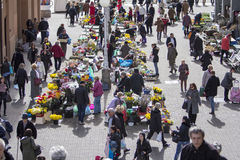 Splavnica, famous flower market in Zagreb Stock Photo