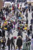 Splavnica, famous flower market in Zagreb Royalty Free Stock Photo