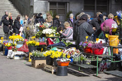 Splavnica, famous flower market in Zagreb Royalty Free Stock Images
