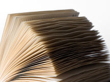 Splayed pages of an open diary Royalty Free Stock Photo