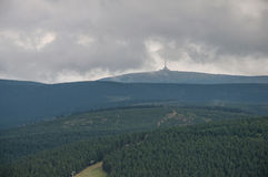 Spleenfulstemming, kort na intense regen in hoogste Moravi Stock Fotografie