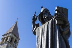 Spleet, Kroatië - 21 Juli 2017, Standbeeld Gregory van Nin Royalty-vrije Stock Foto's