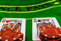 Spleet op blackjack Stock Foto