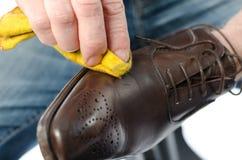 Splendere della scarpa Fotografie Stock