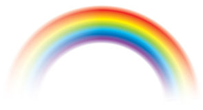 Splendere variopinto dell'arcobaleno di vettore vivo vago