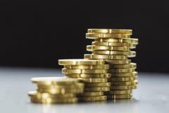Splendere venti monete dell'euro centesimo Immagine Stock