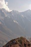 Splendeur de inspiration de crainte, méditation, vallée de Sangla, Inde Image stock