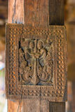 Splendid Ancient Woodcarvings At Embekka Temple In Kandy Royalty Free Stock Photos