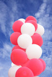 Splendid balloons on the sky Stock Images