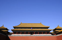 Splendid building of Chinese royal palace Royalty Free Stock Image