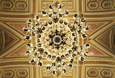 Splendid ceiling Chandelier in royal palace Royalty Free Stock Images