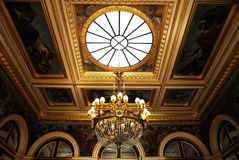Splendid ceiling Chandelier in royal palace. Splendid room with luxury Chandelier Royalty Free Stock Photography