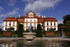 Splendid chateau Jemniste in Czech Republic. Chateau Jemniste - the first news of Jemnišsě dates back to the year 1381. At that time the owner of the manor was Royalty Free Stock Photo