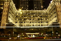 Splendid Christmas decoration of The Peninsula Hotel in Hong Kong Royalty Free Stock Images