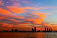 Splendid cloud and the Bahrain sunset HDR photograph Stock Photography
