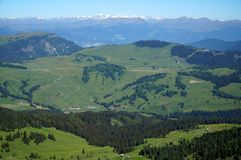 Splendid countryside invites to hike on high alp / dolomites / south tyrol / italy Stock Photography