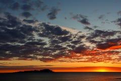 Splendid dawn from the beach of Mundaka.  Royalty Free Stock Image