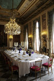 Splendid dinning room with luxury decoration. And Chandelier Stock Images