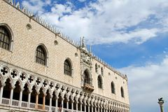 Splendid Ducal Palace in Venetian-style architecture in Venice i Stock Photo