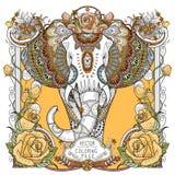 Splendid elephant coloring page Stock Image