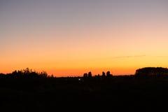 Splendid evening atmosphere at blue hour Stock Photos