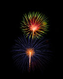 Splendid fireworks colorful from independence day Royalty Free Stock Image