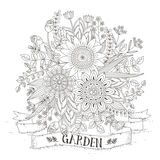 Splendid flower coloring page Royalty Free Stock Photo