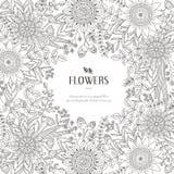 Splendid flower frame Royalty Free Stock Images