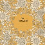 Splendid flower frame Royalty Free Stock Image