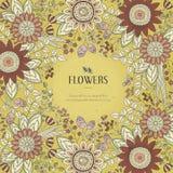 Splendid flower frame Stock Photography