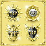 Splendid golden VIP label collection Stock Images