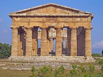 Splendid Greek columns of the temple very well preserved Royalty Free Stock Photo