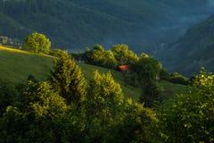 Splendid hills and intense green nature Royalty Free Stock Photo