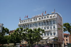 Splendid hotel in Cannes Stock Photos