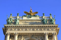 Splendid house facade of the austrian national library. In Vienna Stock Photography